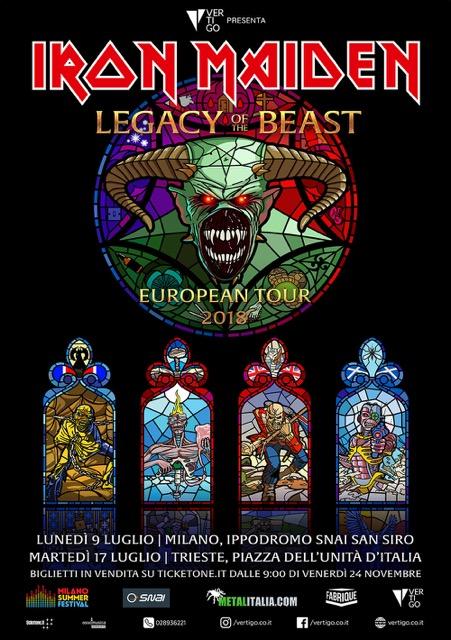 Gli Iron Maiden suoneranno al Milano Summer Festival!