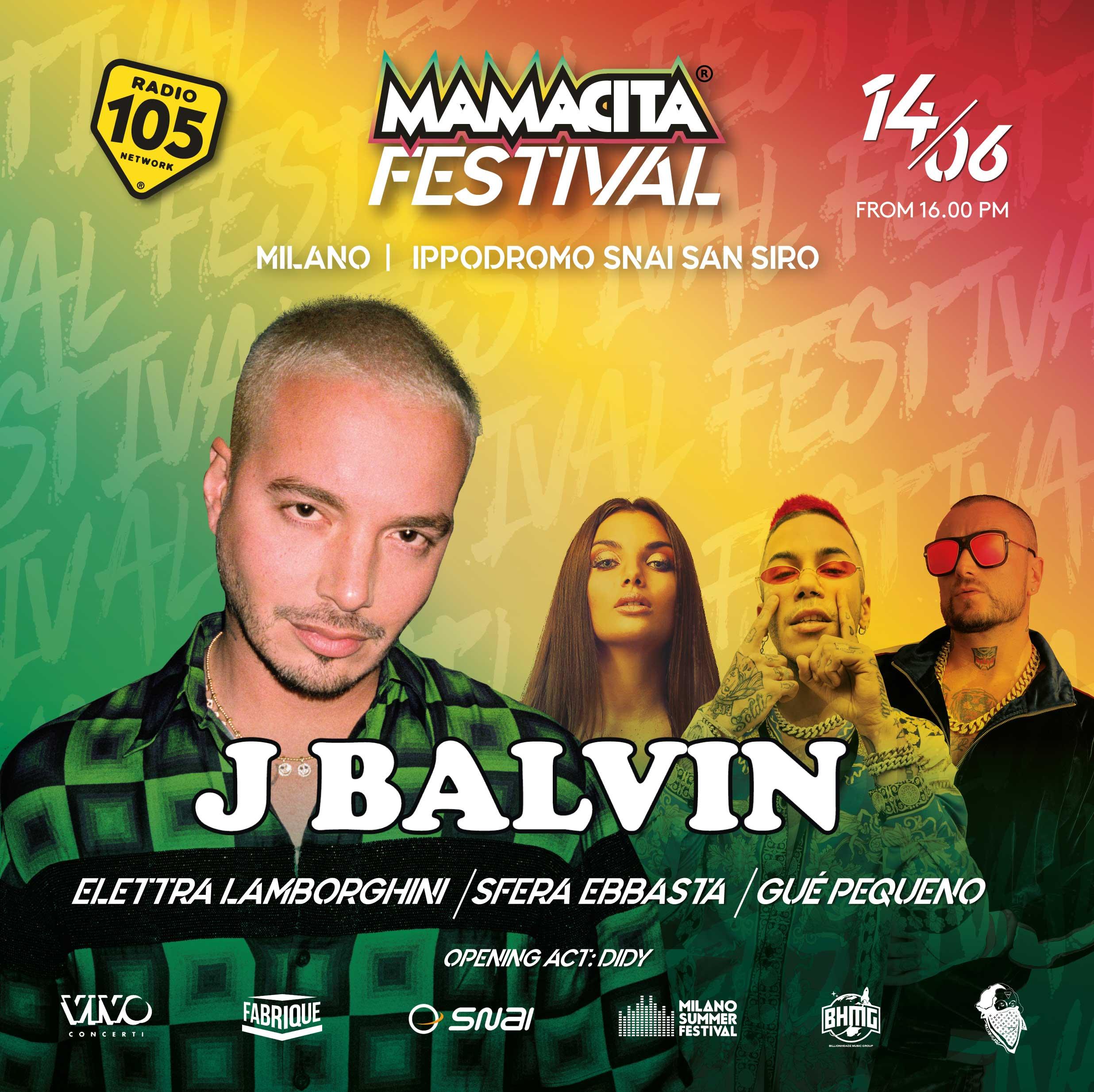 MAMACITA FESTIVAL – J. BALVIN and many more, 14 giugno