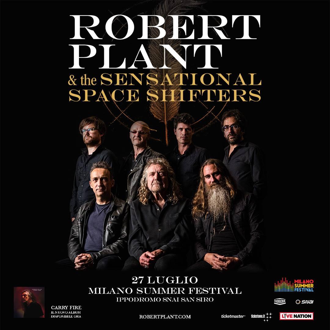 NUOVO ANNUNCIO! Robert Plant il 27 luglio al Milano Summer Festival!