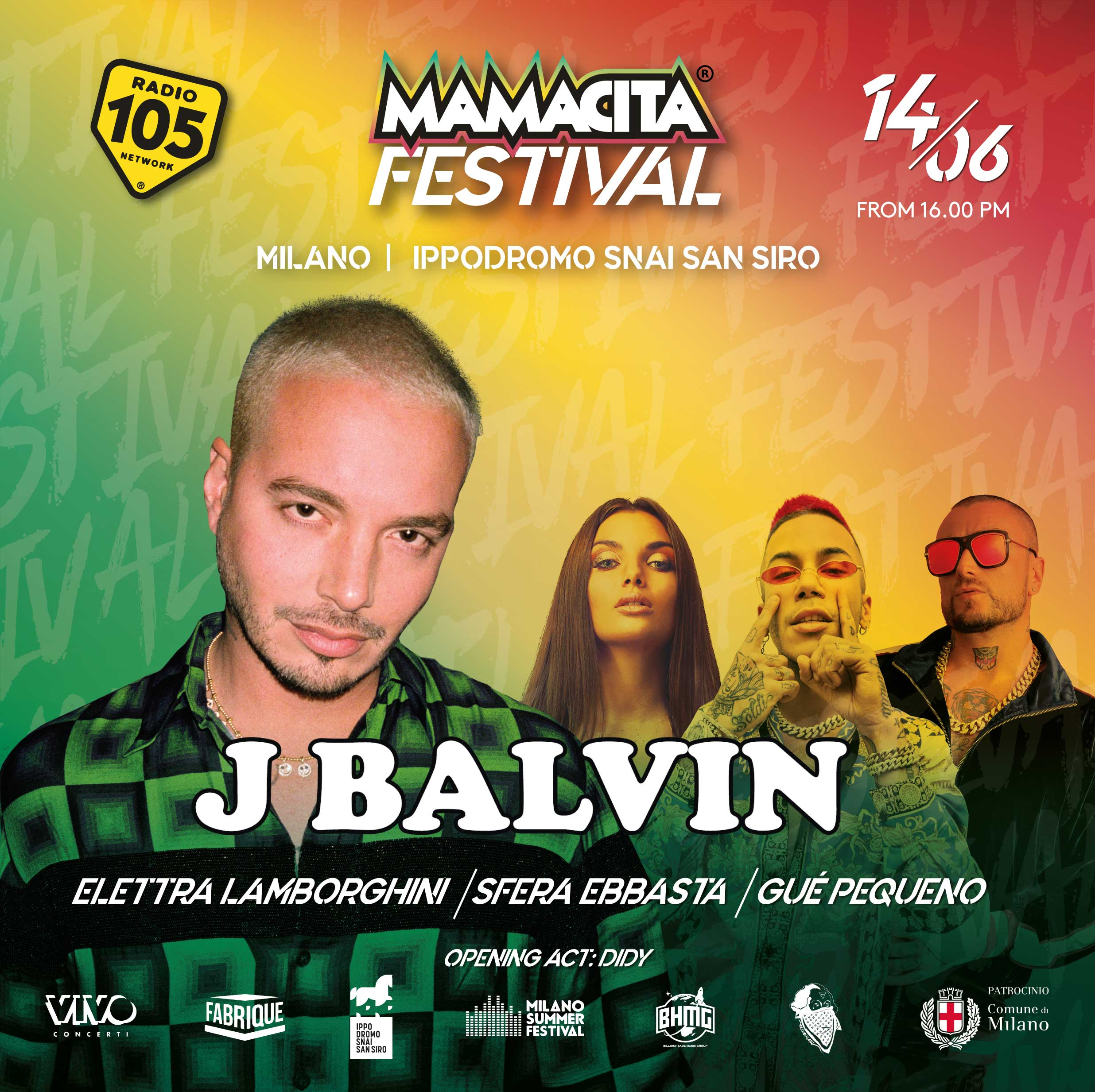 MAMACITA FESTIVAL – J. BALVIN and many more, 14 giugno