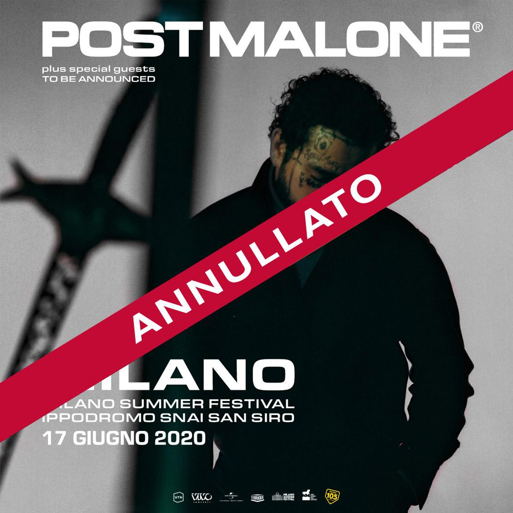 POST MALONE 17 Giugno (annullato)