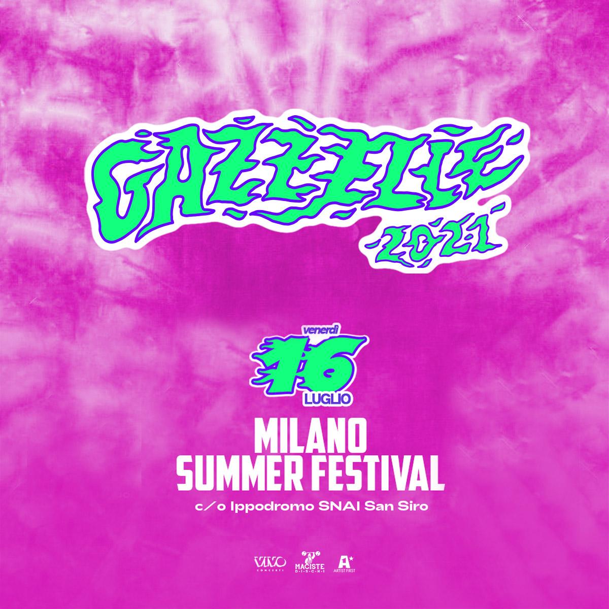 Gazzelle 16 luglio 2021